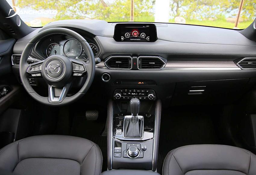 Taplo trên Mazda CX-5 2020 vẫn phong cách tối giản hiện đại mà sang trọng