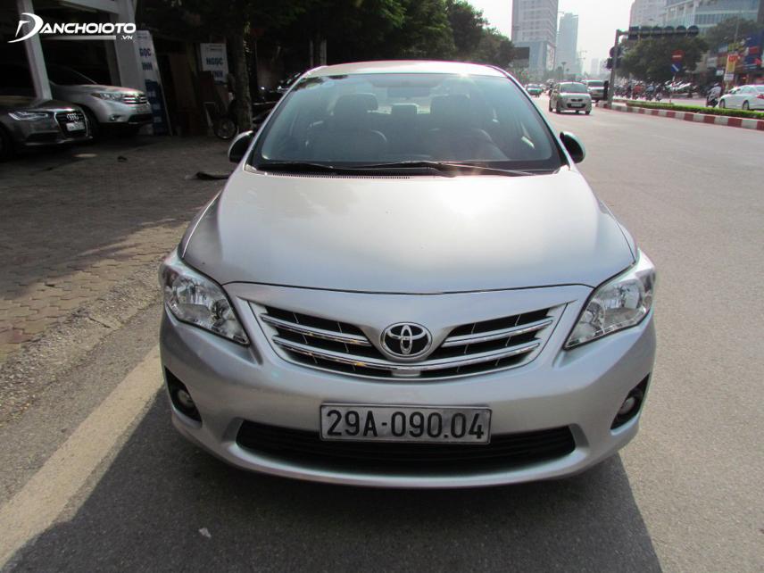 Thiết kế của Toyota Corolla Altis đời 2011 điển hình cho thế hệ thứ 10