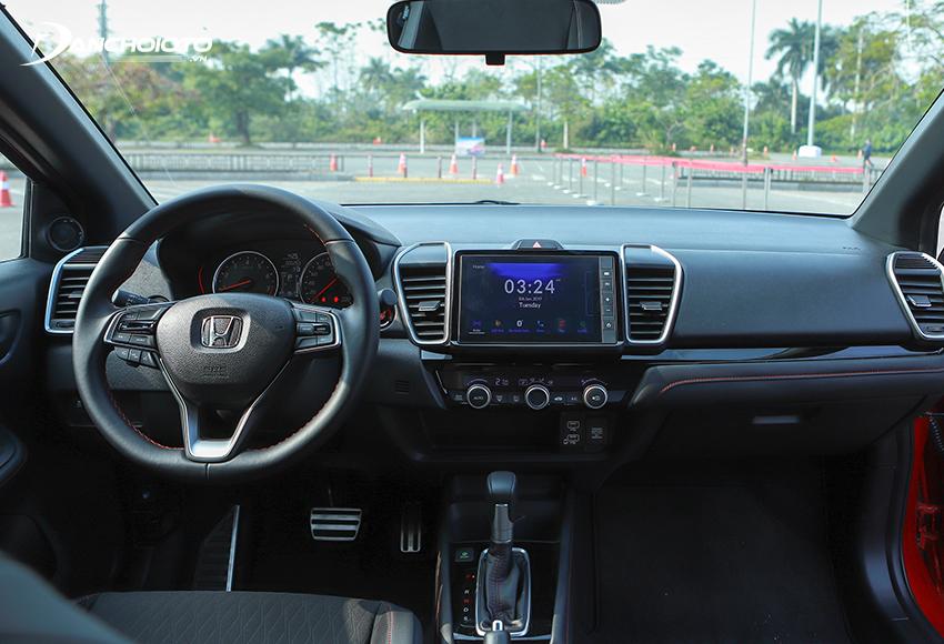 Thiết kế taplo Honda City 2021 đổi mới hoàn toàn cho cảm giác hiện đại và cao cấp hơn