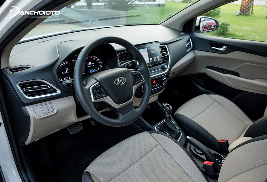 Vô lăng Hyundai Accent 2021 không thay đổi
