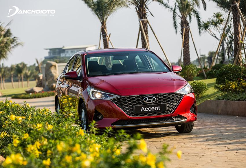 Vô lăng Hyundai Accent 2021 sử dụng trợ lực lái điện vẫn phong cách nhẹ nhàng như trước