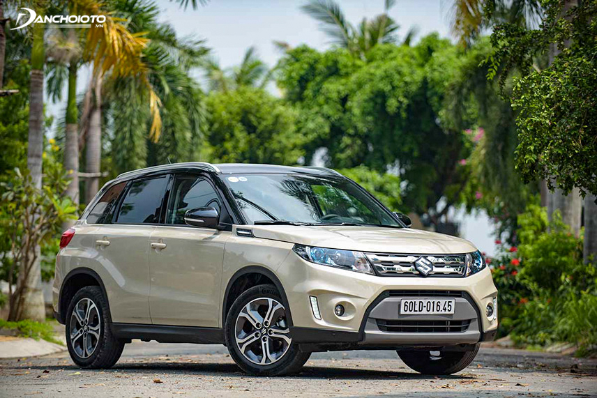 Vitara is designed with a large ground clearance