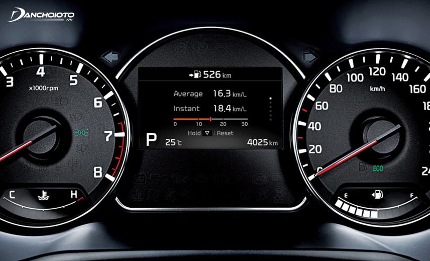 Cụm đồng hồ hiển thị trên Kia Rondo GMT