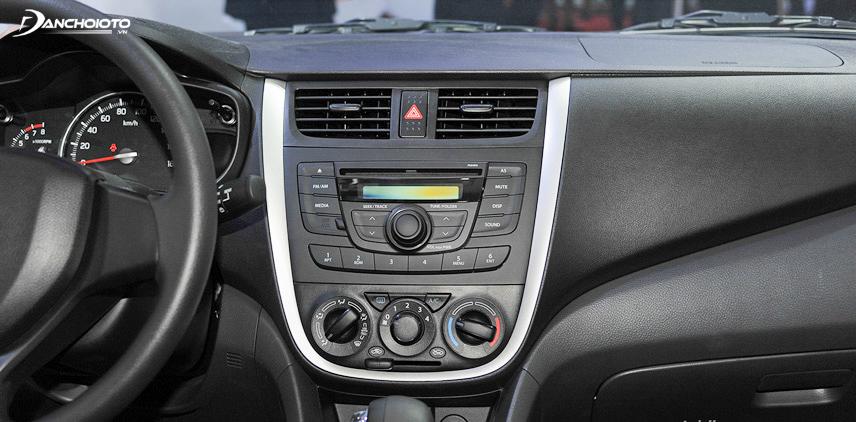 Hệ thống giải trí của Suzuki Celerio chỉ ở mức cơ bản