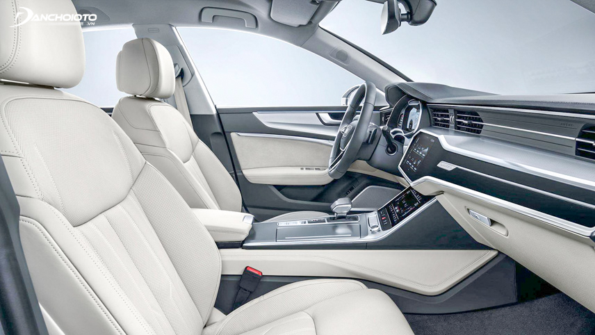 The interior space on the car