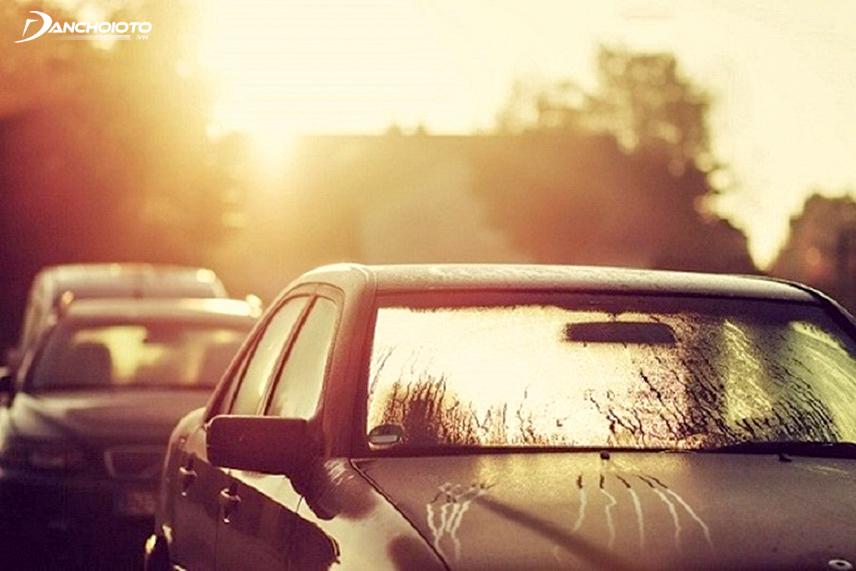 Do not wash the car in the hot sun