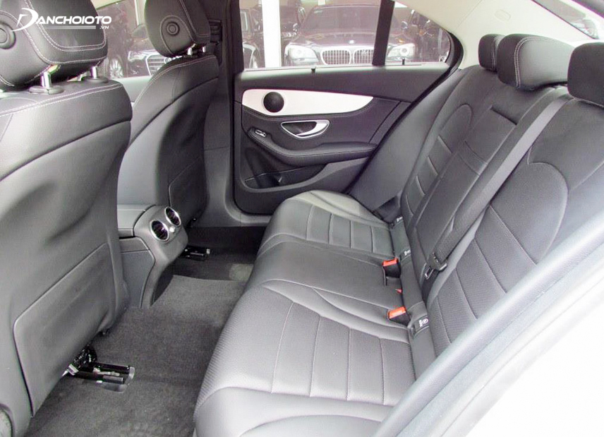 The interior is simple but luxurious