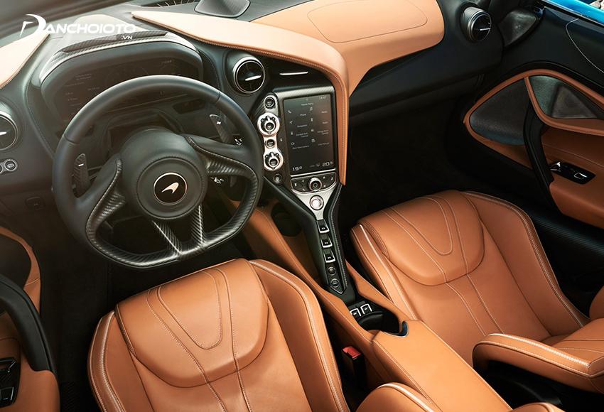Nội thất McLaren 720S được thiết kế mang phong cách pha trộn giữa hiện đại và nguồn cảm hứng cổ điển