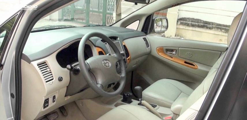 The interior of the 2009 Fortuner has good durability