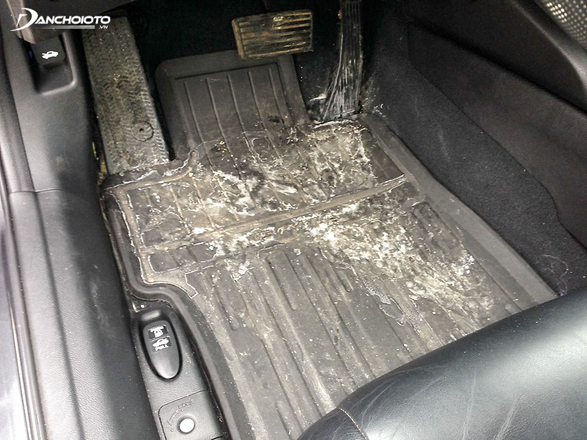 Vehicle owners need to remove the floor and check the location of moisture