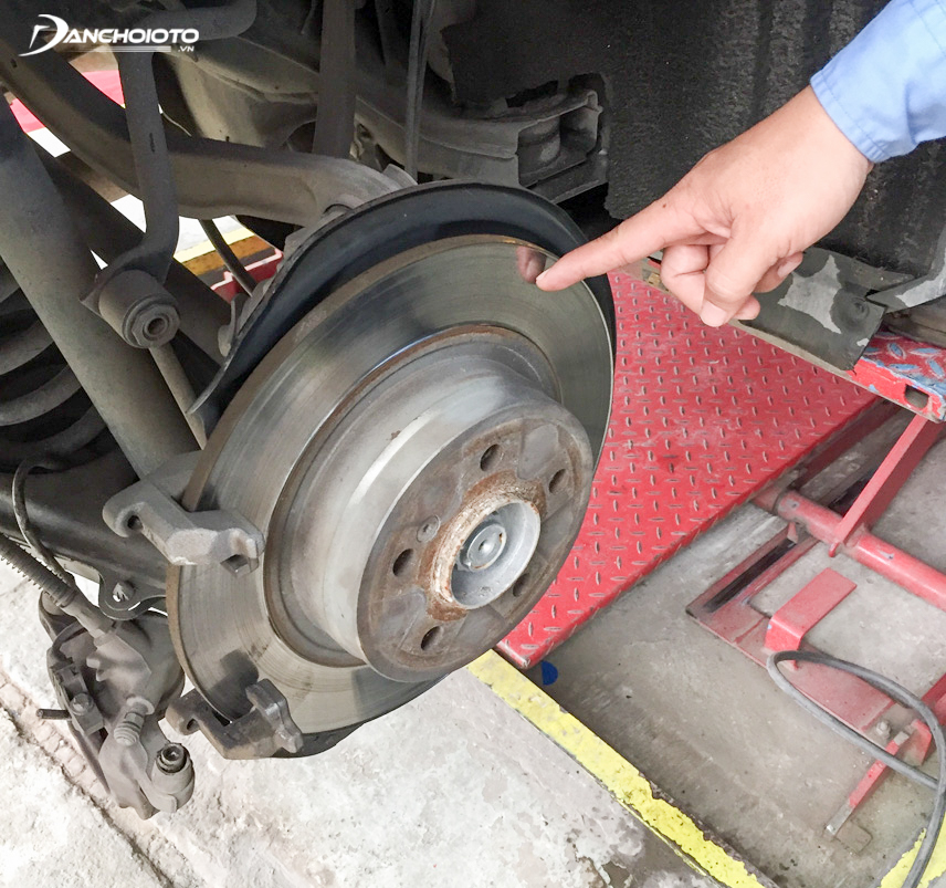 A warped brake disc will cause the car to shake