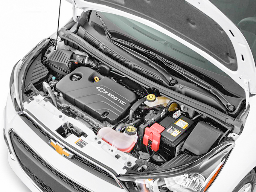 The engine of the 2018 Chevrolet Spark