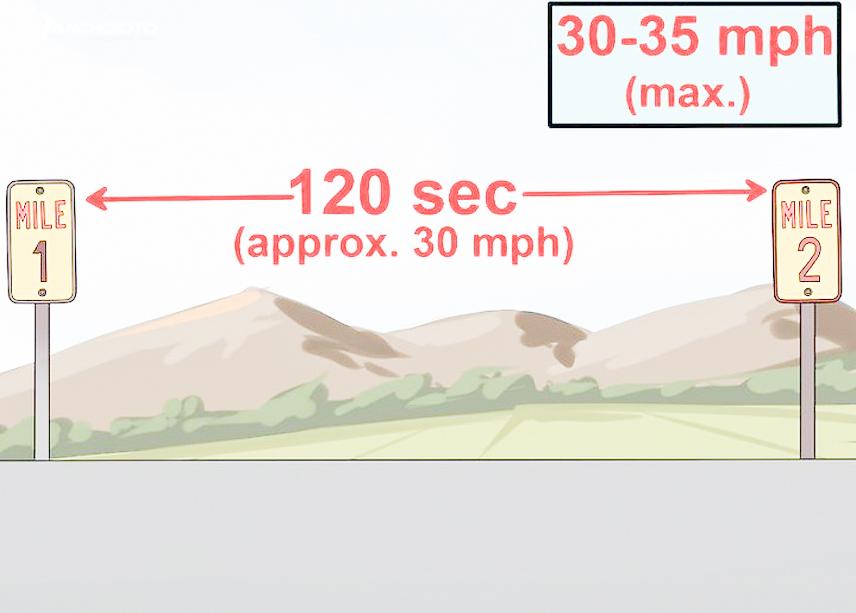 Hãy chú ý tới tốc độ di chuyển của xe