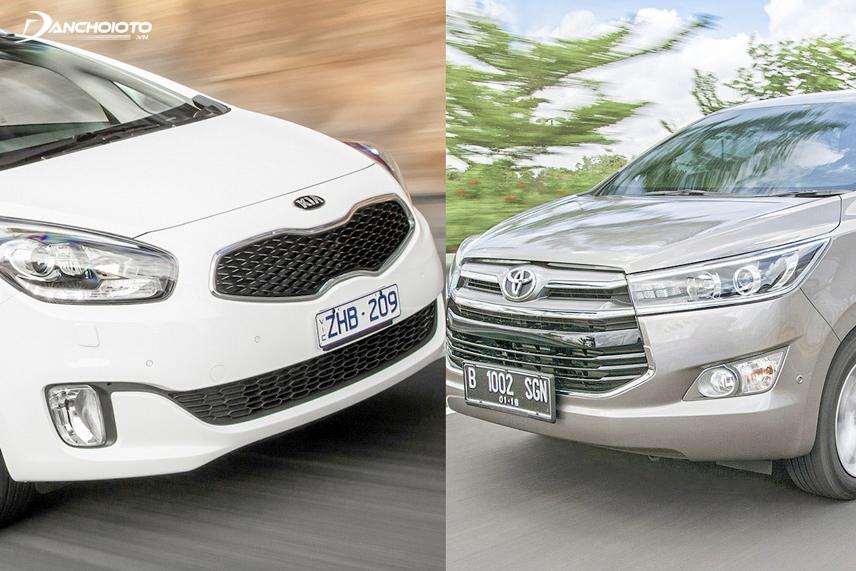 Kia Rondo 2016 and Toyota Innova 2016