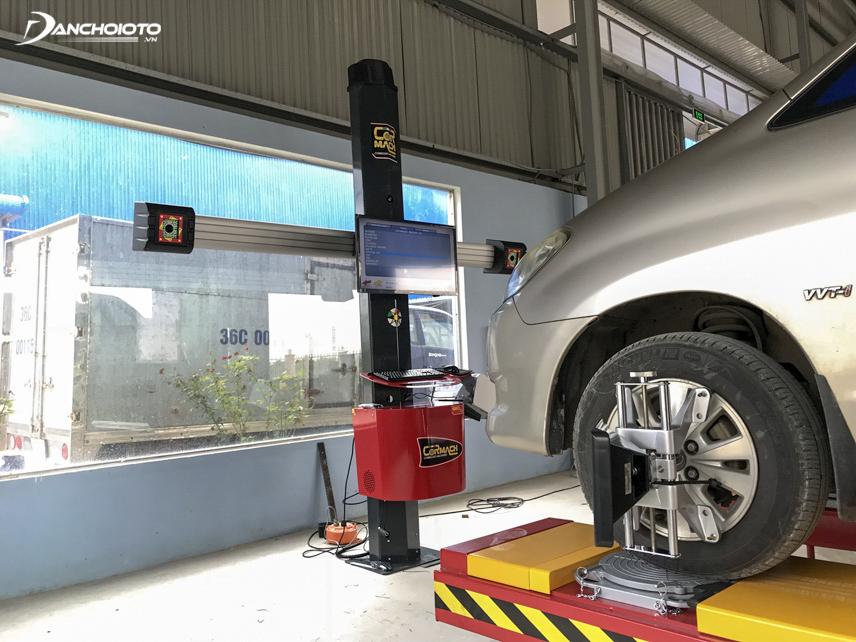 Việc căn chỉnh góc bánh xe là vô cùng cần thiết