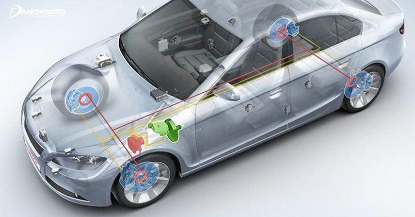 Cars are equipped with anti-lock braking system ABS