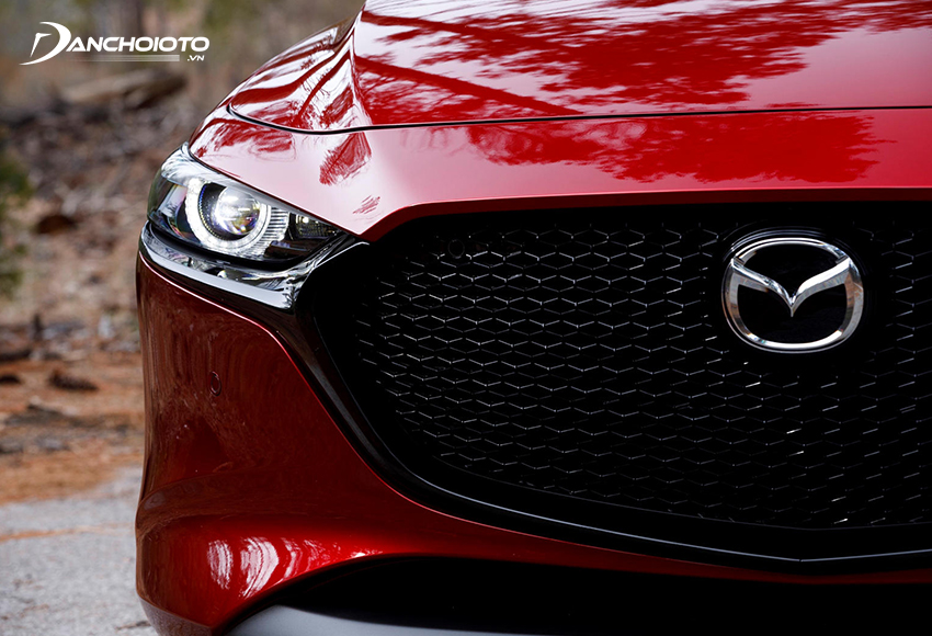 """Lưới tản nhiệt Mazda 3 2020 """"dệt"""" kiểu 3D đen bóng nổi bật"""