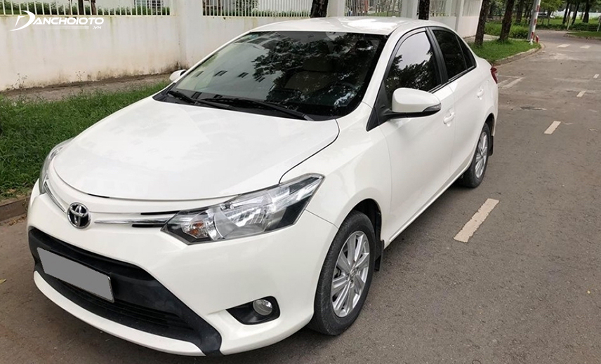 Buying an old Vios costs VND 400 million, you can choose an old Toyota Vios model from 2015-2016