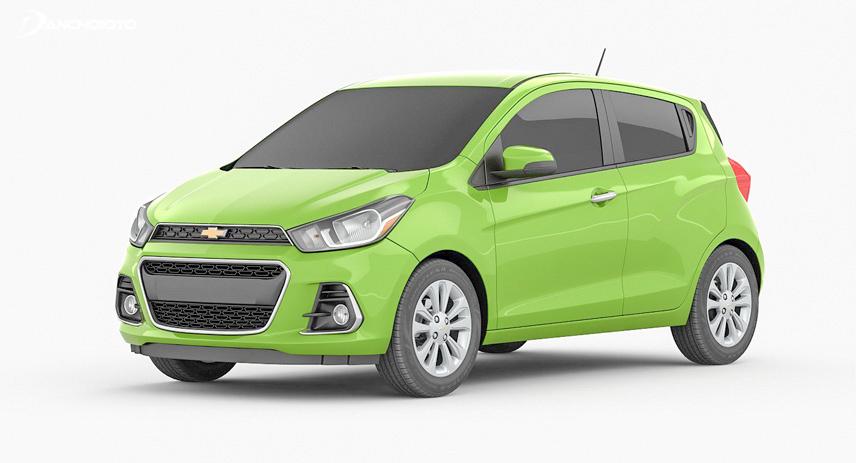 Chevrolet Spark 2017 sở hữu ngoại hình trẻ trung và cá tính hơn