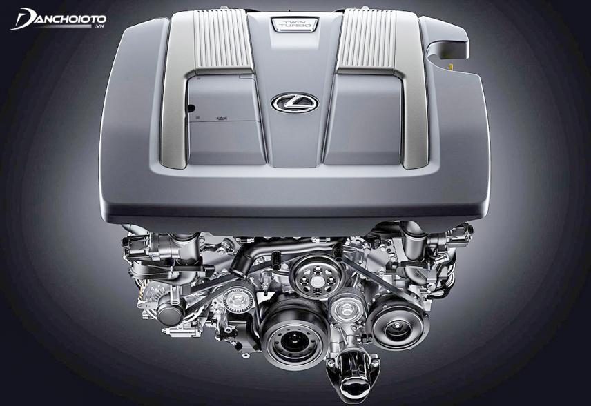 Turbocharged engine on the Lexus LS 500