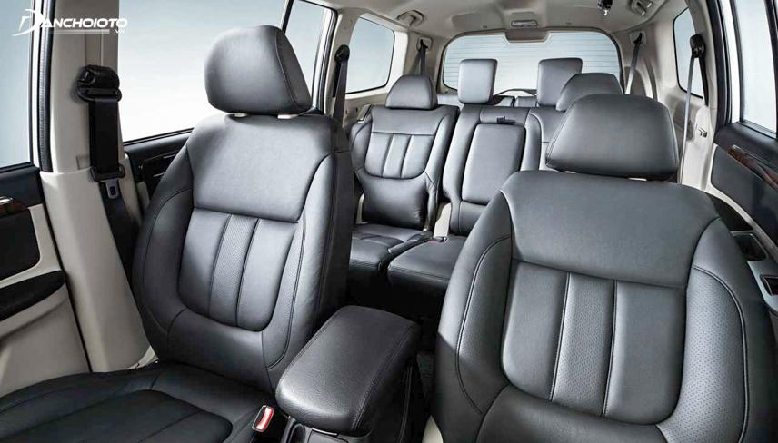 Hệ thống ghế ngồi rất tiện dụng của Pajero Sport