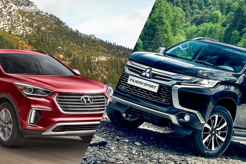 Hyundai Santafe 2018 và Mitsubishi Pajero Sport 2018