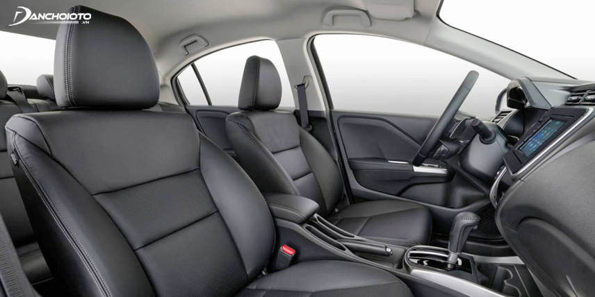 Close-up of Honda City 2018 seating system