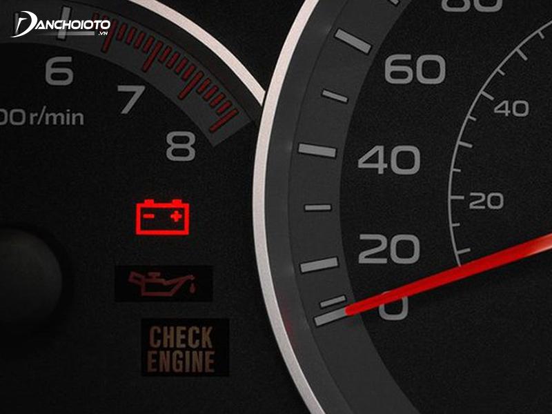 Car battery indicator light