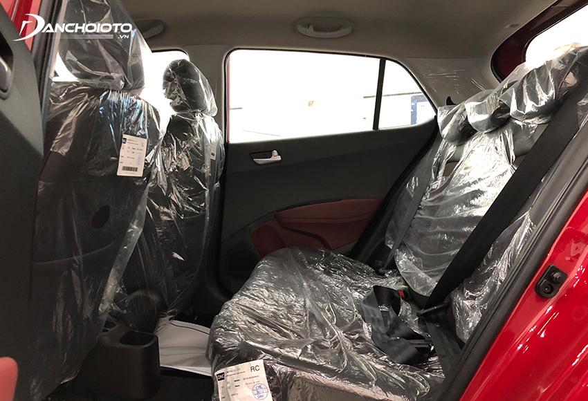 Hàng ghế sau Hyundai Grand i10 rộng rãi hàng đầu phân khúc