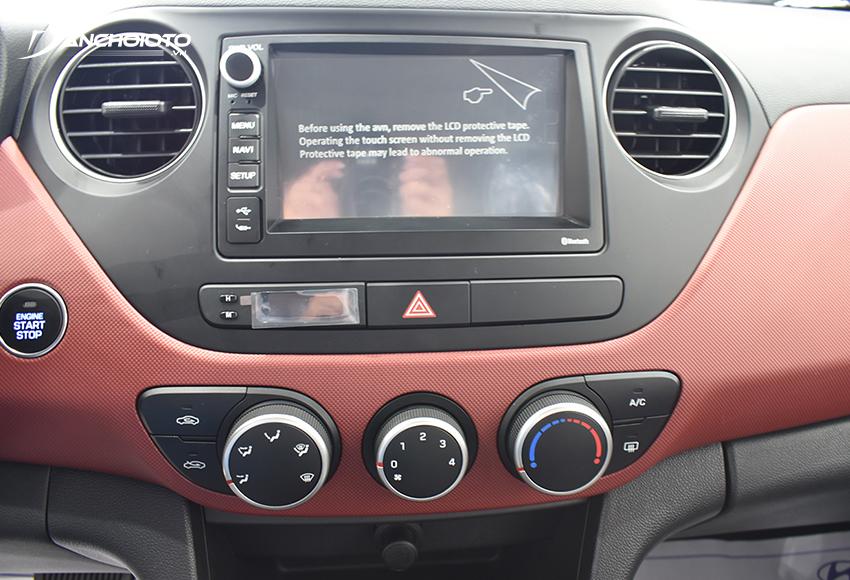 Hyundai i10 được trang bị màn hình cảm ứng trung tâm 7 inch, âm thanh 4 loa