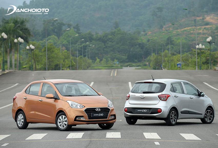 Hyundai i10 hatchback dáng đẹp hơn trong khi i10 sedan rộng rãi hơn