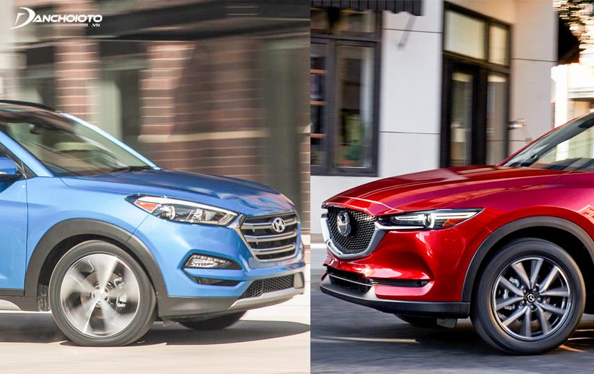2018 Mazda CX-5 and 2018 Hyundai Tucson