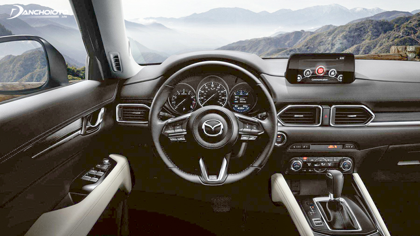 The interior of the 2018 Mazda CX-5 is designed in the style of European cars