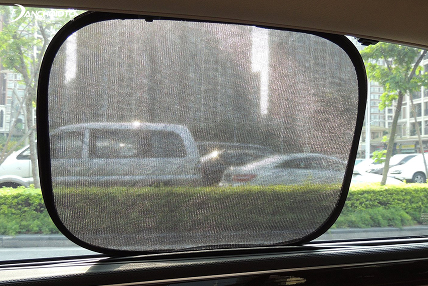 A sun visor helps prevent hot sun from affecting motorists as well as interior details