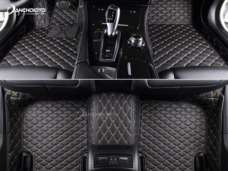 Thảm lót sàn giúp không gian nội thất xe ô tô sang trọng hơn