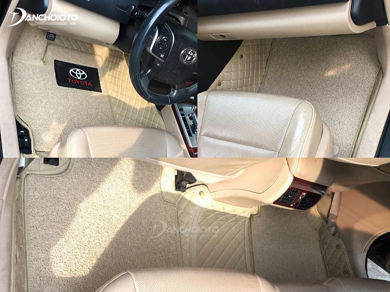 Thảm lót sàn xe hơi 6D có khả năng chống ồn tốt