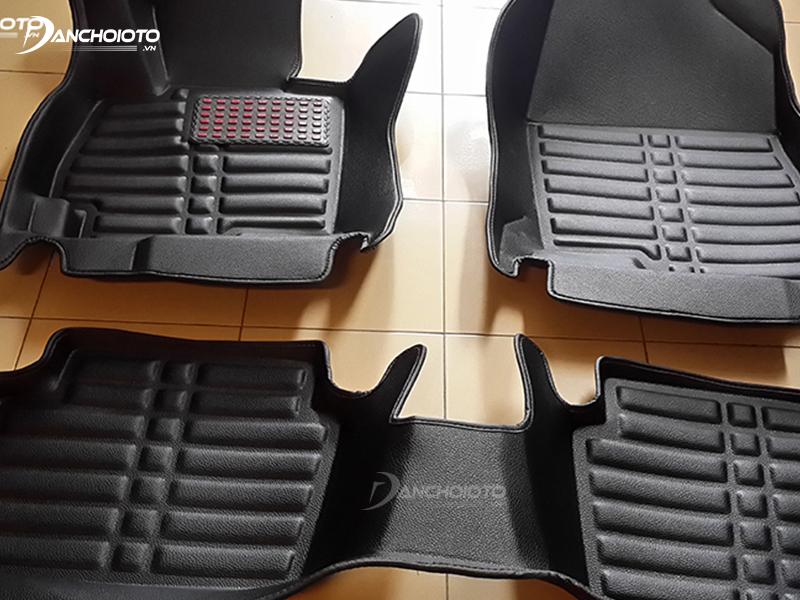 Trên mặt da thảm lót sàn 4D được thiết kế nhiều gờ nổi giúp tăng độ bám