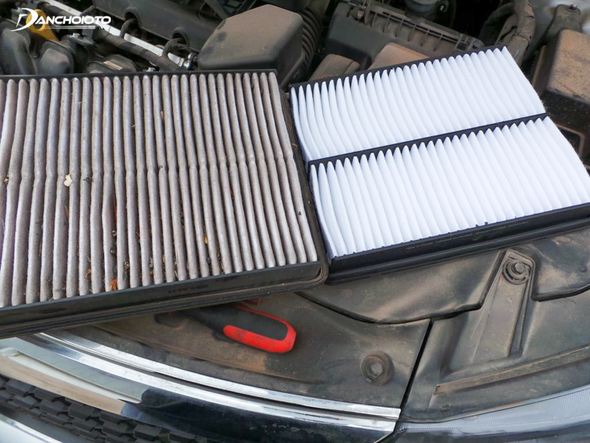 Cleaning the air filter is an action to do