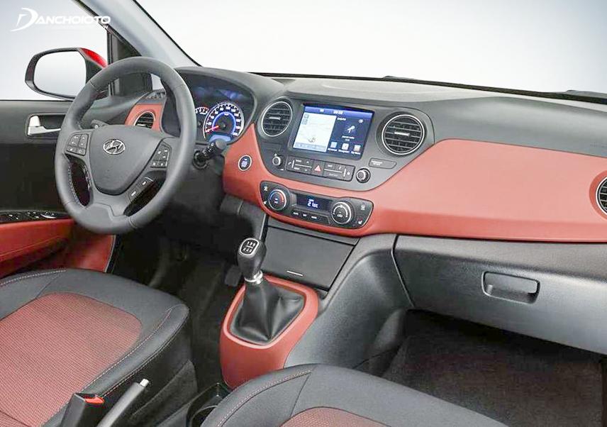 Close-up steering wheel i10 2018