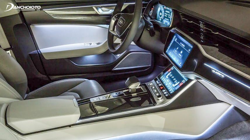 The lighting technology in the interior compartment makes the Audi A6 absolutely stand out for its glamorous elegance