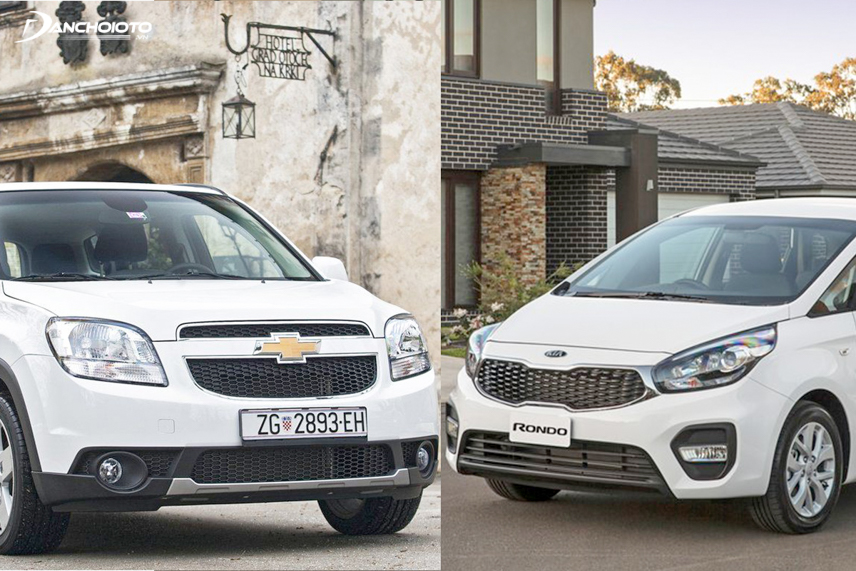 Kia Rondo 2018 and Chevrolet Orlando 2018