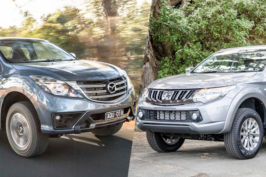 2018 Mazda BT-50 and 2018 Mitsubishi Triton