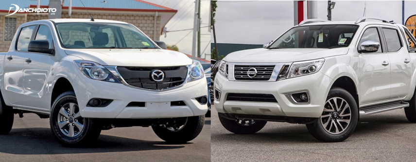 2018 Mazda BT-50 and 2018 Nissan Navara