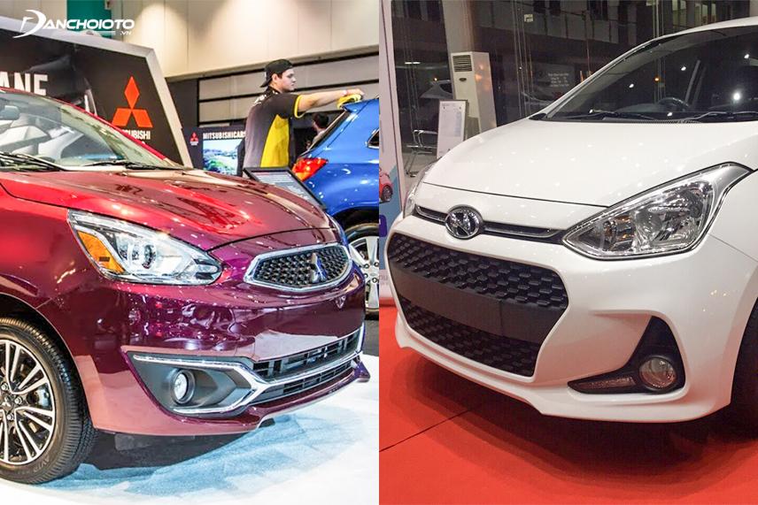 Mitsubishi Mirage 2018 và Hyundai Grand i10 2018