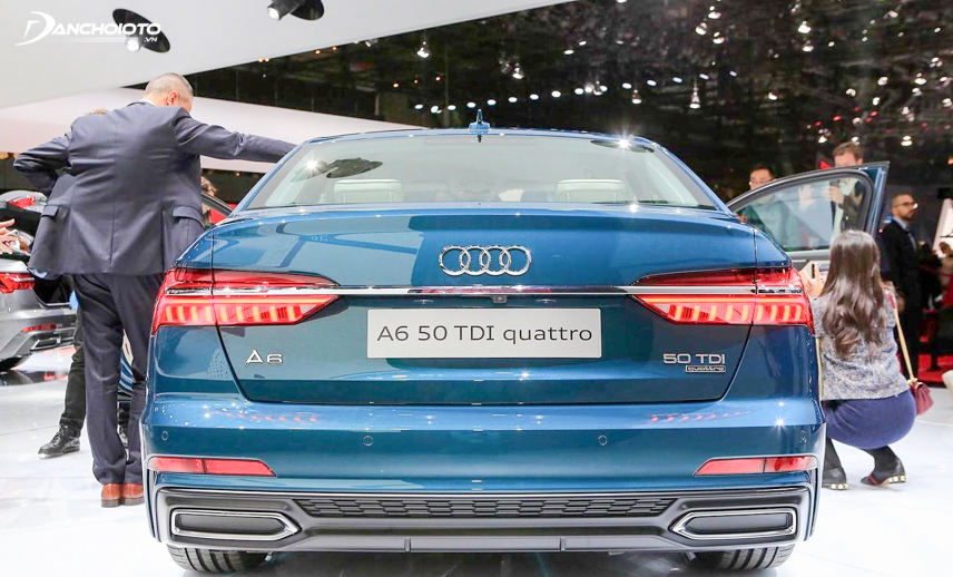 The sporty tail of the Audi A6