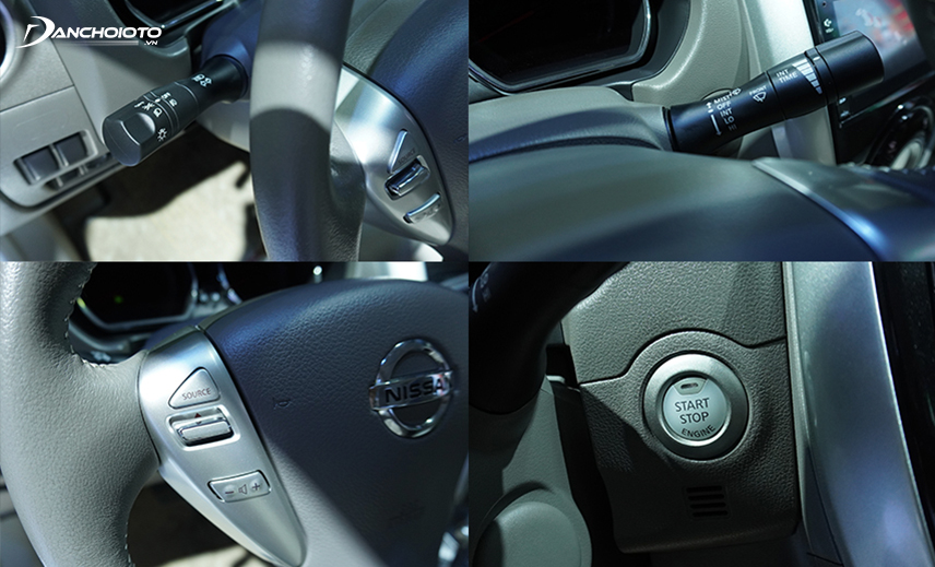 Control keys on the steering wheel of Nissan Sunny 2019 - 2020