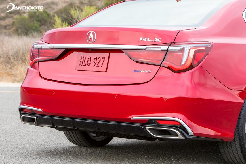 Tail lights design breakthrough on Acura RLX 2018