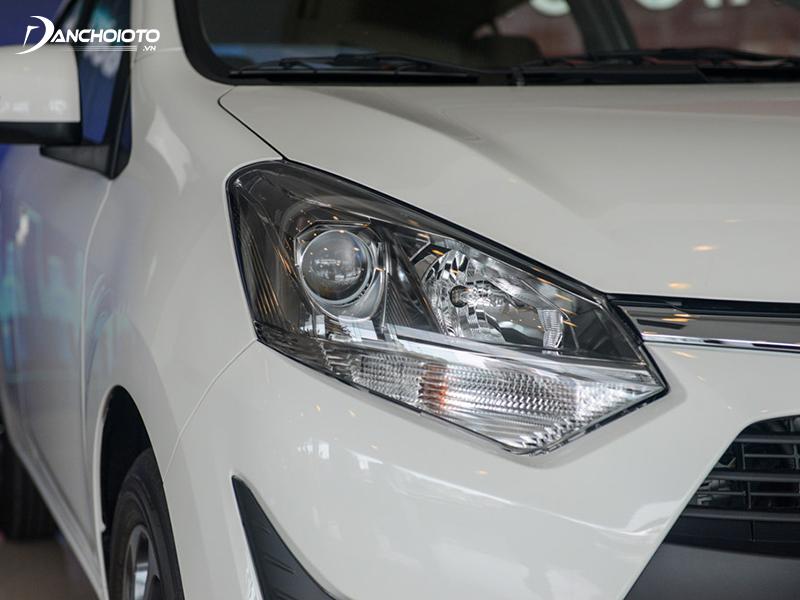 Cụm đèn trước Toyota Wigo 2020 thiết kế vuốt ngược tăng vẻ mạnh mẽ