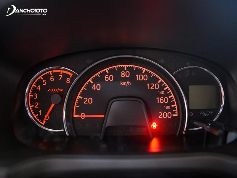 Cụm đồng hồ Toyota Wigo 2020 khá cũ