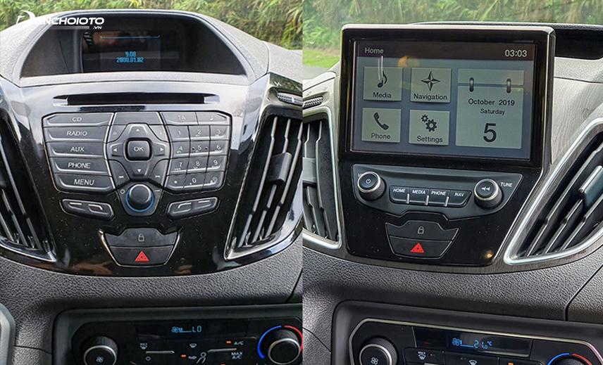 """Ford Tourneo Trend dùng màn hình 3,5"""", còn bản Titanium dùng màn hình 7"""""""